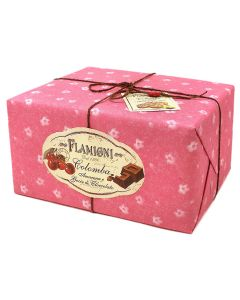 Colomba with candied black cherry and chocolate