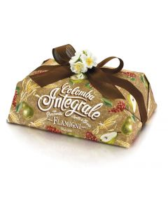 Wholemeal Colomba with candied pear cubes and Corinth raisins without candied citrus