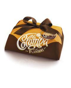 Colomba tradizionale con arancia candita e gocce di cioccolato