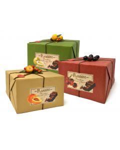 Assortimento 3 panettoni con: cioccolato albicocca/amarena/cedro